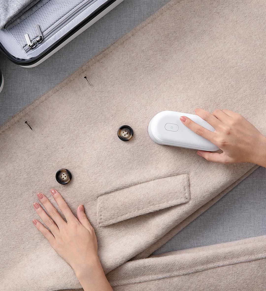 Image 5 - Original Xiaomi Mijia Portable Lint Remover Hair Ball Trimmer Sweater Remover Motor Trimmer 5 leaf Cyclone Floating Cutter HeadSmart Remote Control   -