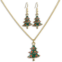 Christmas Trees Necklace Earrings Sets Jewelry Sets Christmas Party Costume Jewellery Accessories Xmas Gifts for Women Children(China)