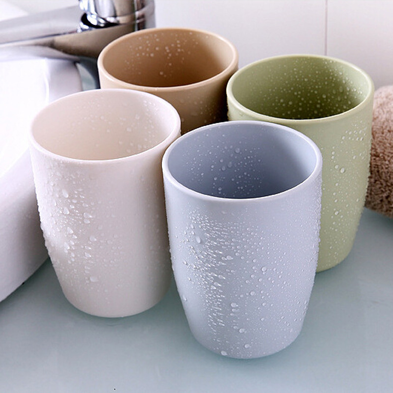 Creative Thick Circular Plastic Travel Home Bathroom Water Cups Toothbrush Holder Cup Rinsing Cup Wash Tooth Mug Bathroom Sets