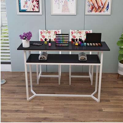 Маникюрный Стол одинарный и двойной маникюрный магазин стол специальный выгодный экономичный контракт современный стол для маникюра и Набор стульев - Цвет: 80cm