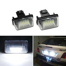 цена на LED Number License Plate Light Lamp For Peugeot 206 207 306 307 406 407 For Citroen C3 C4 C5 Car License Plate Light