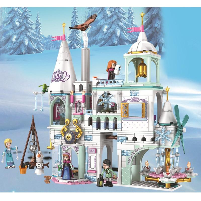 NEW Arrivel Snow Castle Building Blocks Compatible Legoinglys Friends Castle Bricks Girls Princess House Toys For Girls