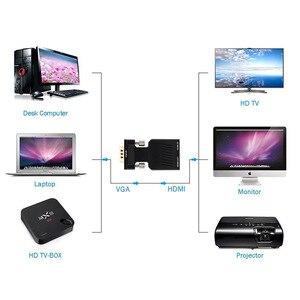 Image 3 - محول VGA ذكر إلى HDMI أنثى مع إخراج الصوت التناظرية إلى الرقمية AV محول الكابلات 1080P ل HDTV رصد العارض PC PS3