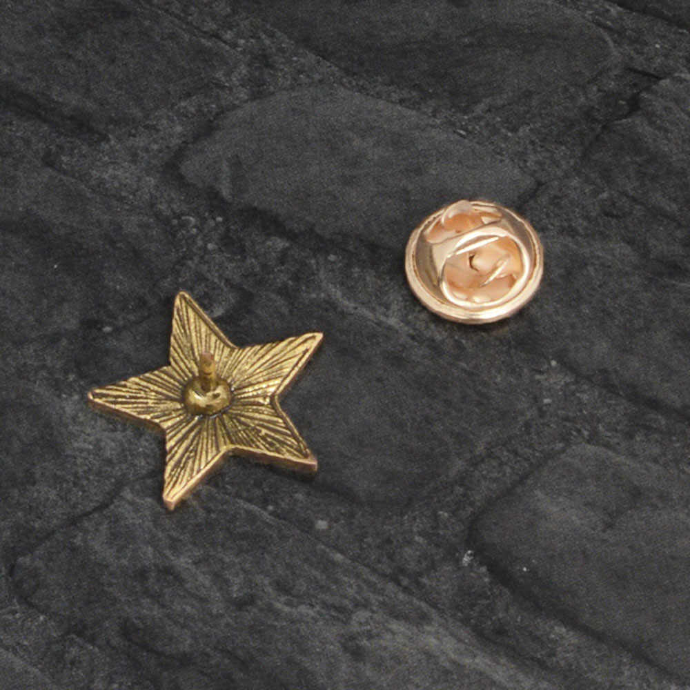 Retro Uni Soviet Simbol Enamel Pin Bintang Merah Sabit Hammer Perang Dingin Soviet Pro Kitty Bros Hadiah Ikon Lencana Kerah Pin untuk mantel Topi
