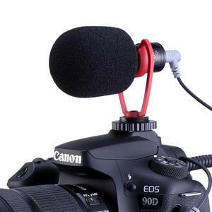 Image 5 - Konfiguracja Vlog kompaktowy mikrofon aparatu W uchwycie telefonu uchwyt wideo Rig Smartphone Mic dla iPhone 11 Huawei Canon Nikon DSLR aparaty