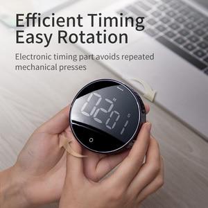 Image 4 - Baseus Digital LED Timer Küche Magnetische Countdown Countdown 99 Minuten 55 Sekunden Kochen Alarm für Kochen Lehre Treffen