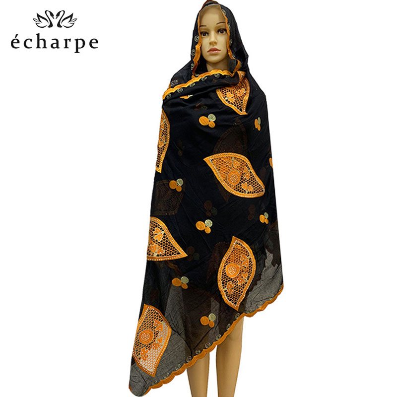 New Arrival African Women Scarf, Cotton Type Characteristics Of Women Scarf, Wrapped Head Scarf Outdoor Hijab Scarf  EC178