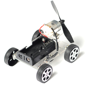 DIY Wind Power Vehicle Car Model Kits Assemble Car Toys Handmade Scientific Experiments Education Toys for Kids Auto Motor Robot