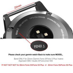 Image 5 - フェニックス 6 ソフトナイロンループファスナーリストバンド 22 ミリメートルクイックフィット時計バンドストラップガーミンフェニックス 5/5 プラス/Forerunner935/本能