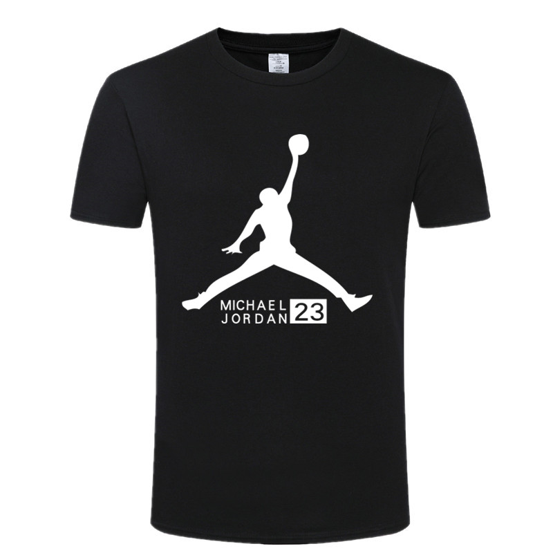 New T-shirt Michael Jordan Mens Round-neck Collar Fashion Image Jordan Nba T-shirt Tops Mens Shirts