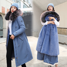 2019 New Oversized Coats Thick Winter Jacket Women Hooded Fur Collar Down Cotton Coat Long Jacket Female Parkas Mujer Maxi Coats стоимость