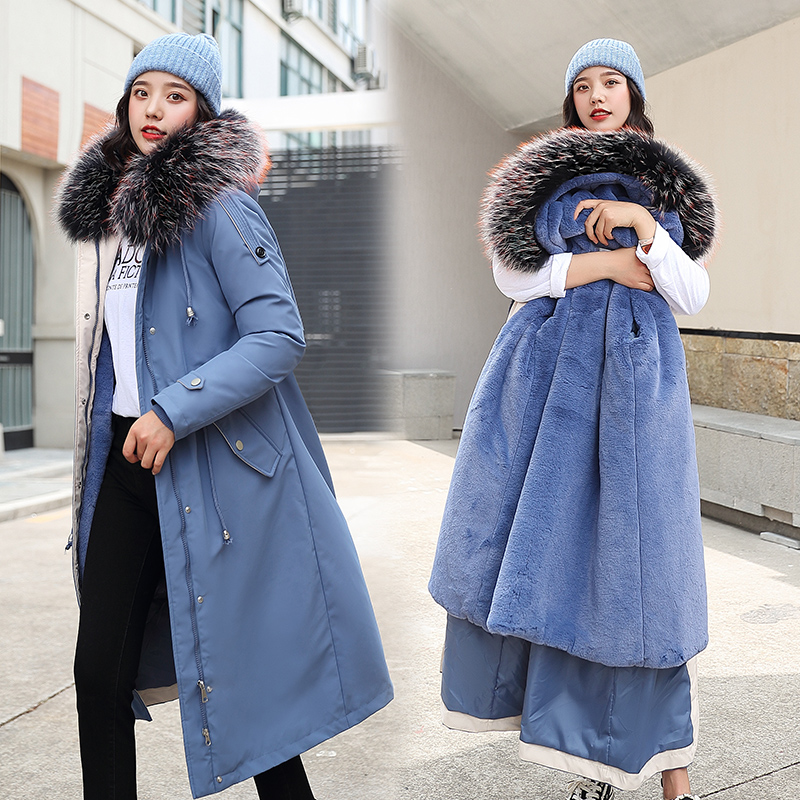 2020 New Oversized Coats Thick Winter Jacket Women Hooded Fur Collar Down Cotton Coat Long Jacket Female Parkas Mujer Maxi Coats