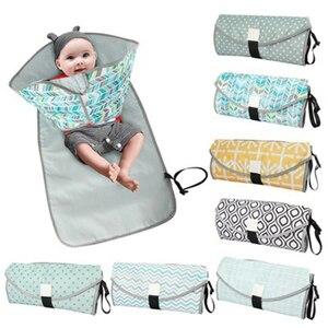 Image 1 - Пеленальный Коврик для ребенка, портативный складной водонепроницаемый дорожный матрац для детской коляски, детские коврики, пеленальный коврик для подгузников