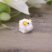 10Pcs Mini Sheep Figurines Miniatures DIY Animals Micro Fairy Garden Home Decor 72XF