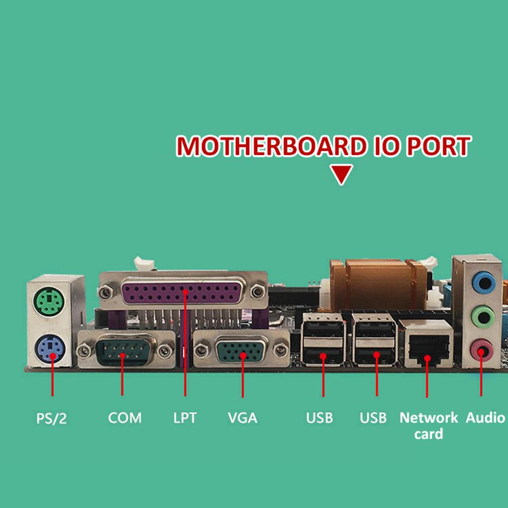 computer motherboard Desktop Computer Motherboard With All Solid Capacitor SATA2.0 RJ45 LPT VGA Audio 771 775 CPU Dual DDR3 1066/1333MHz Motherboard (2)