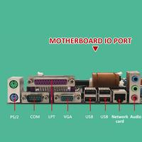 capacitor computer motherboard Desktop Computer Motherboard With All Solid Capacitor SATA2.0 RJ45 LPT VGA Audio 771 775 CPU Dual DDR3 1066/1333MHz Motherboard (2)