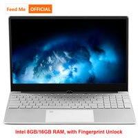 Металлический корпус Windows 10 ноутбук 8 Гб 16 Гб RAM отпечаток пальца разблокировка Intel 3867U нетбук двухдиапазонный WiFi клавиатура с подсветкой CF LOL ...