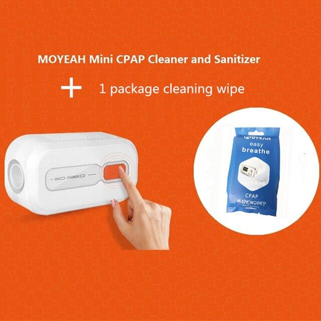 MOYEAH מיני CPAP מנקה מחטא הנשמה עם 1 חבילה ניקוי לנגב דום נשימה בשינה Cpap אוויר צינורות נקי Sanitizer מעקר