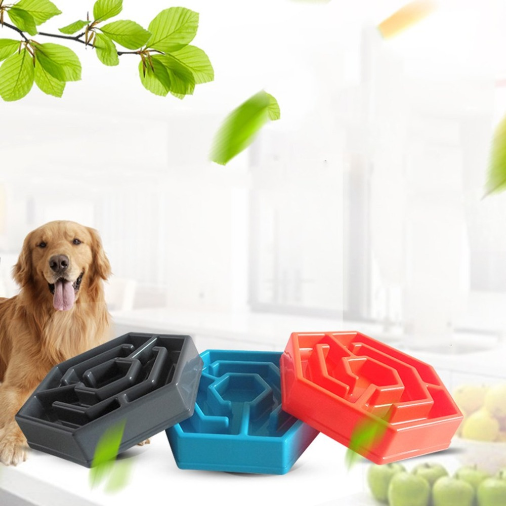 Pet Anti Choke Feeding Food Bowls Puppy Slow Down Eating Feeder Dish Bowel Prevent Obesity Dogs Supplies Strict Control