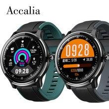 Accalia sn80 relógio inteligente homem ip68 à prova dip68 água movimento rastreador freqüência cardíaca pressão arterial esportes relógio remoto câmera música respirar