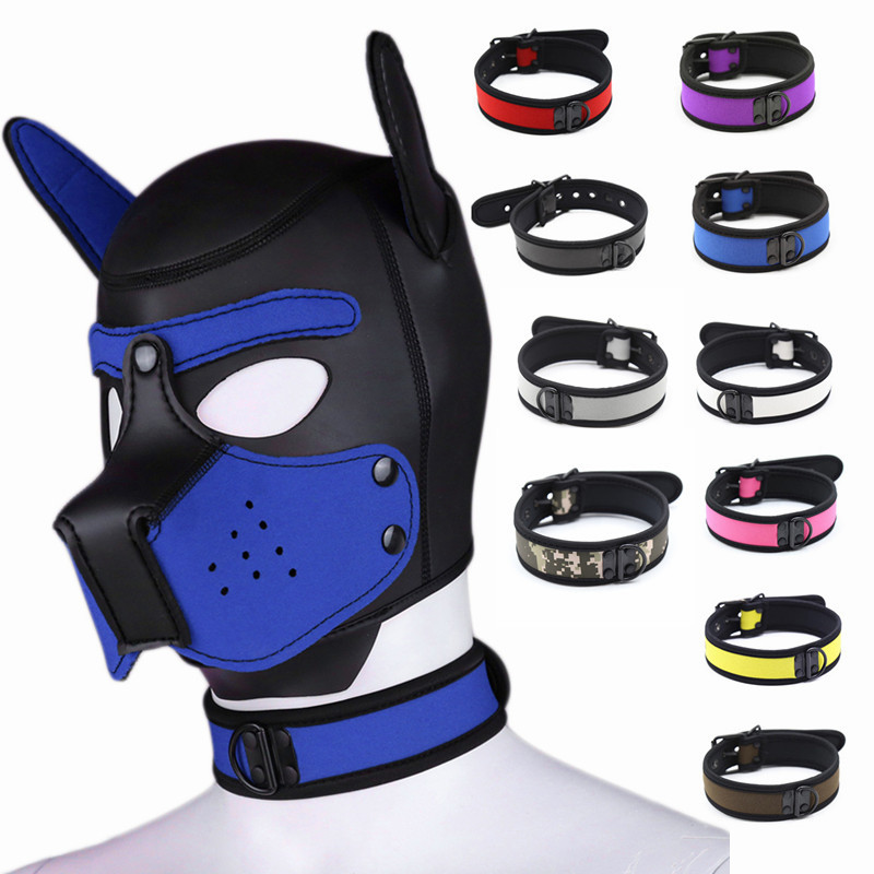 2019 Women Girls Cosplay Accessories Puppy Sexy Collar SM Role Playing Master Servant <font><b>Sex</b></font> Lady Rubber Adult <font><b>Dog</b></font> Props Neck Cover image