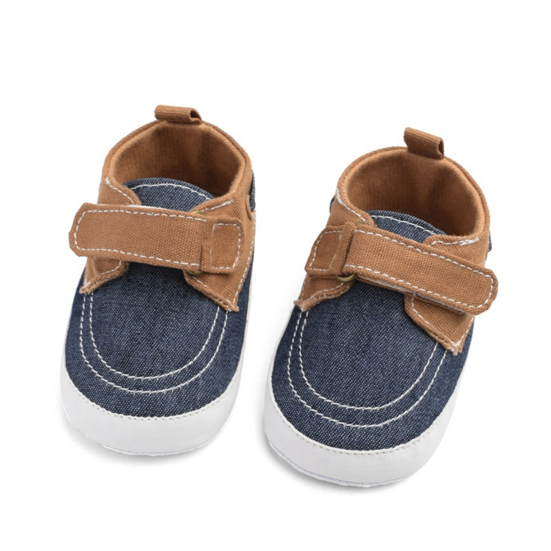 Brand New Infant Baby Boy Shoes Newborn Soft Sole Sneaker Cotton Crib Shoes Sport Casual Warmer First Walkers