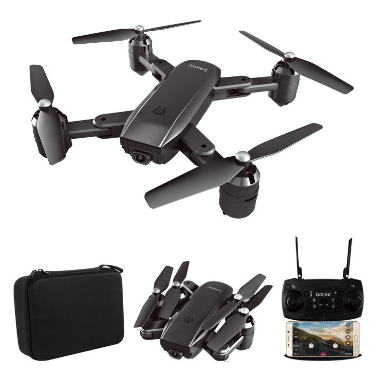 ZD5 Folding Unmanned Aerial Vehicle Gesture Photo Shoot Optical Flow Double Camera Wide-angle Set High Aerial Photography Quadco
