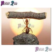 Алмазная вышивка с муравьем сделай сам деревянный квадрат или