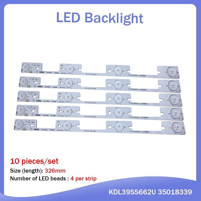 10 Pieces*4 LEDs*6V LED Backlight Bar For TV KDL39SS662U 35018339 KDL40SS662U 35019864 327mm
