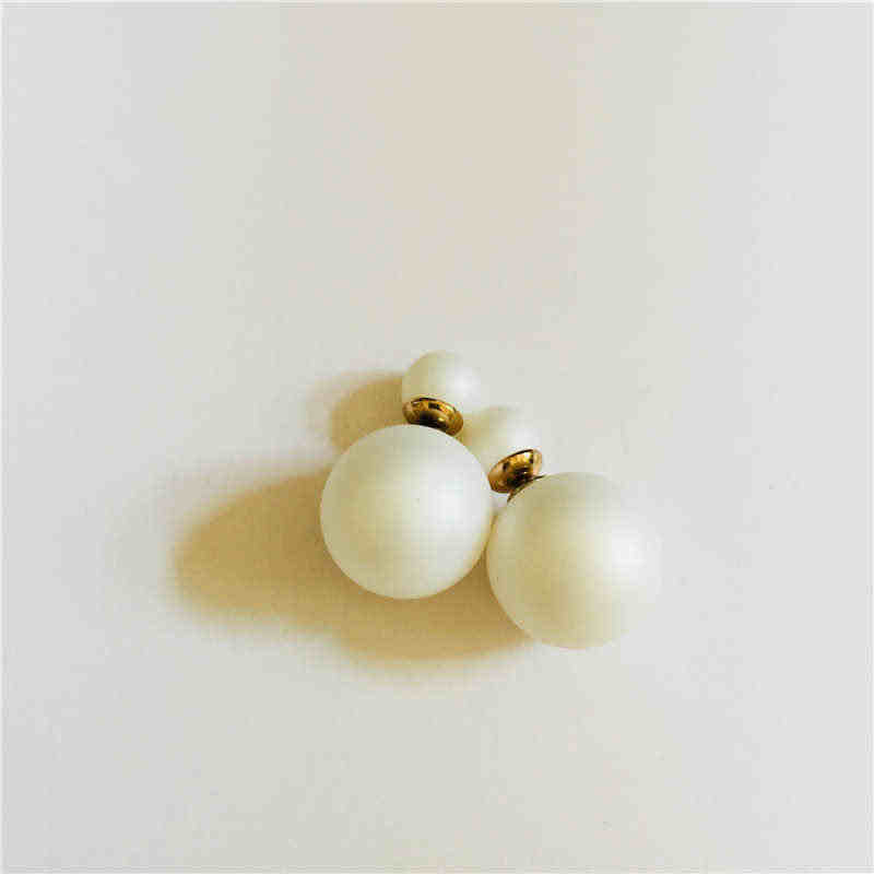 Clearance with Two - Headed Earrings, Suitable for Multi - Color 16MM Round Spherical Imitation Pearl Earrings Wear