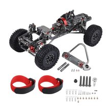 цена на New RC Racing CNC Aluminum Metal and Carbon Frame for RC Car 1/10 AXIAL SCX10 Chassis 313mm Wheelbase Vehicle Crawler Cars Parts