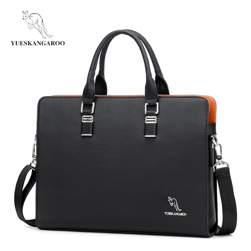 YUESKANGAROO Men's Laptop Briefcase Business Handbag Large Capacity Messenger Bags Male Vintage Leisure Shoulder Bag