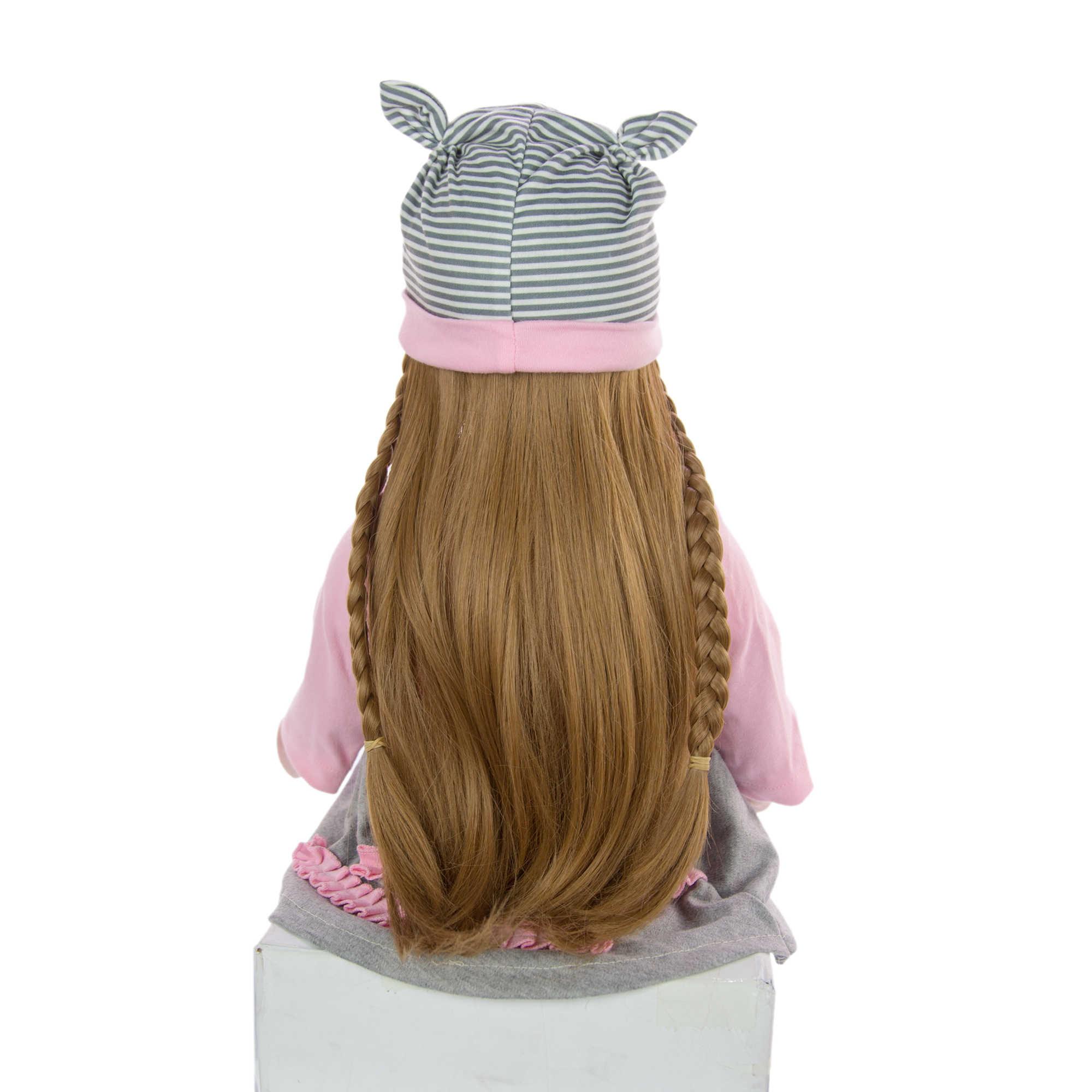 KEIUMI الكرتون تولد من جديد طفلة الدمى 60 سنتيمتر سيليكون جميل طويل الشعر الأميرة جديد الحصري الطفل تولد من جديد الموضة محشوة دمية