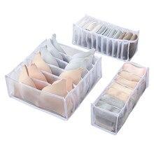 AA 3 Stück Lagerung Box, Mehrzweck Haushalt Lagerung Box Commodity Regal für Unterwäsche Socken, Weiß/Grau