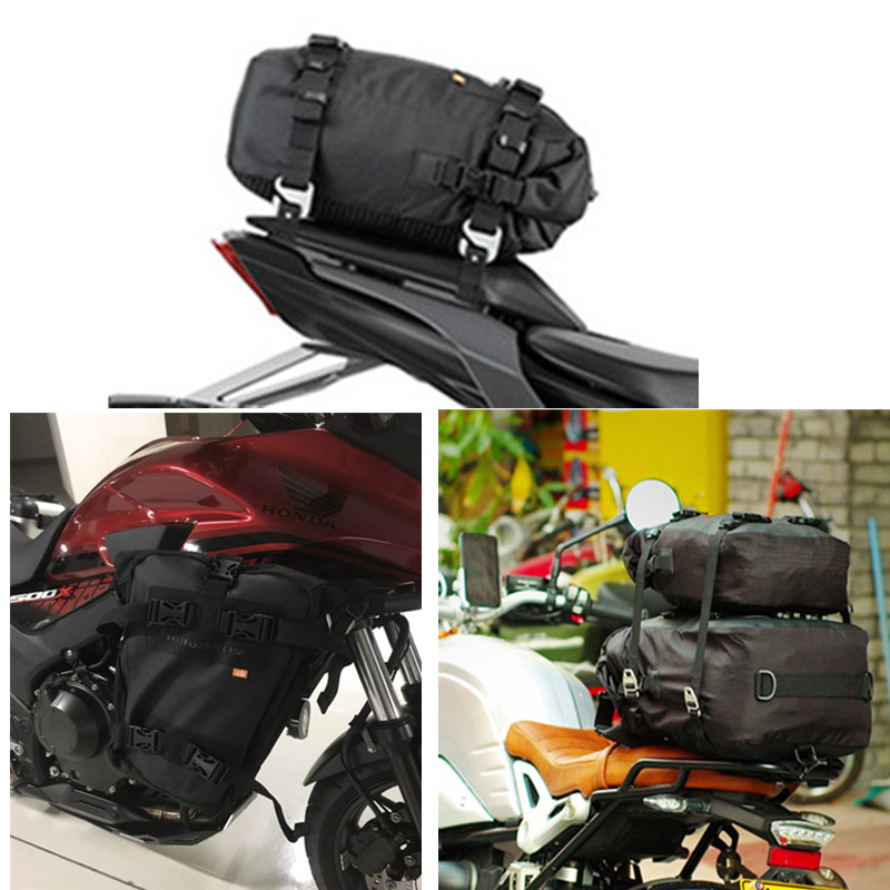 Motorcycle Tail Bag Waterproof Motorcycle Side Bag 10L20L30L Luggage Backpack Rear Seat Bags Bolsa moto Motocross tail bar bag