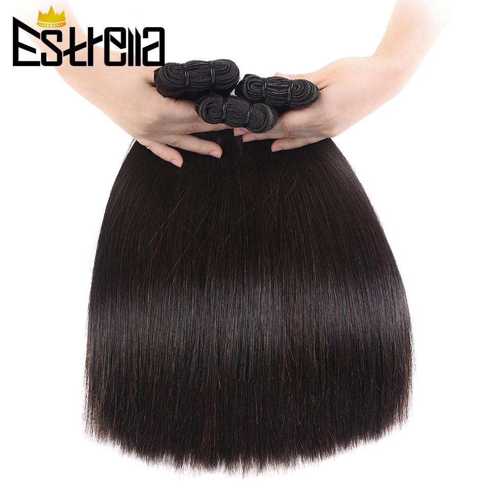 Bone Straight  Bundles   Bundles Natural Human Virgin Hair Double Drawn 100%  ESTRELLA 1
