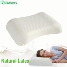 PurenLatex תאילנד טהור טבעי לטקס כרית קעור נגד נוקשה כריות אורתופדיות חוליות צוואר מיטת בריאות שינה