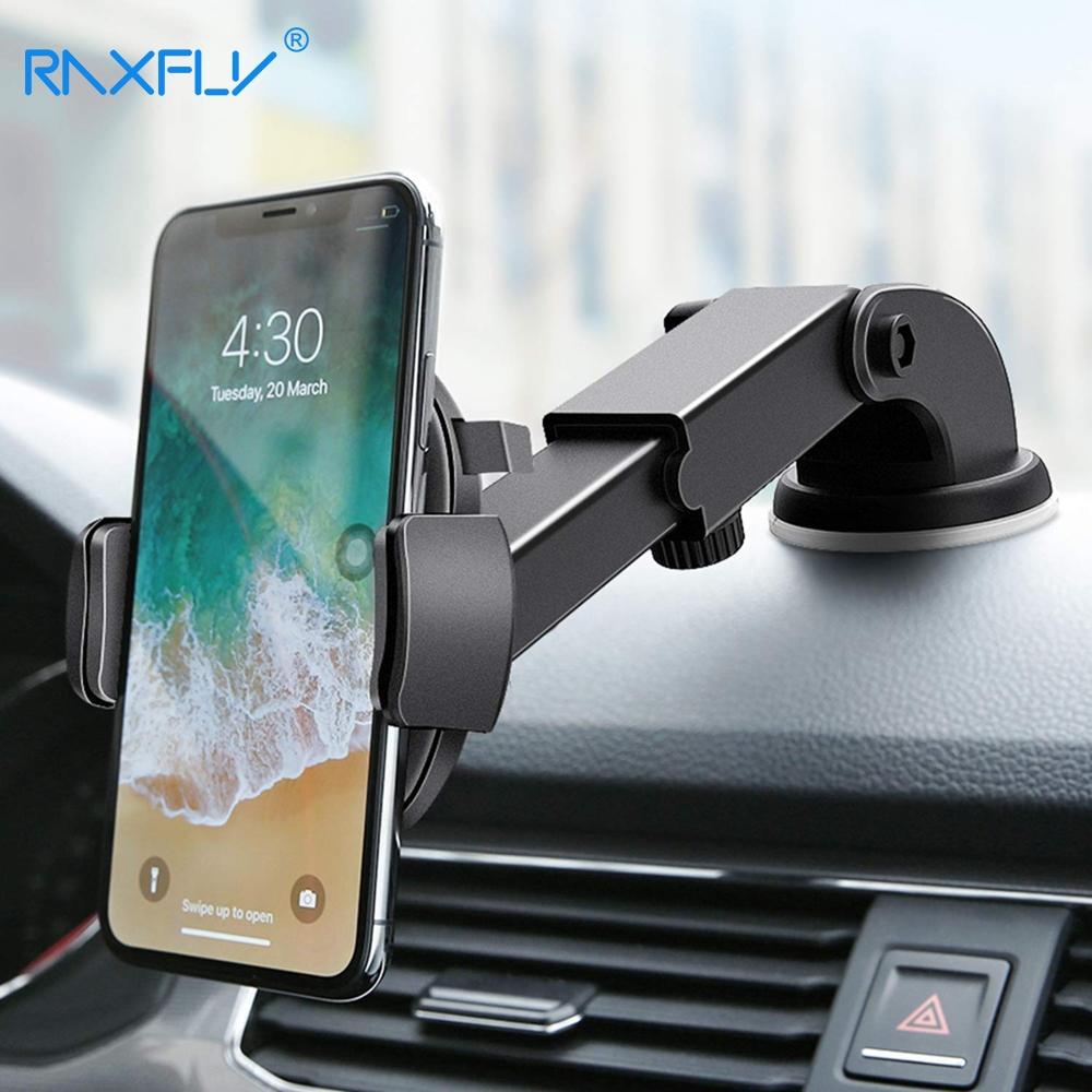 RAXFLY Luxus Auto Telefon Halter Für iPhone X XR 8 7 Windschutzscheibe Auto Montieren Telefon Stehen Auto Halter Für Samsung a50 S8 Telefon Tutucu