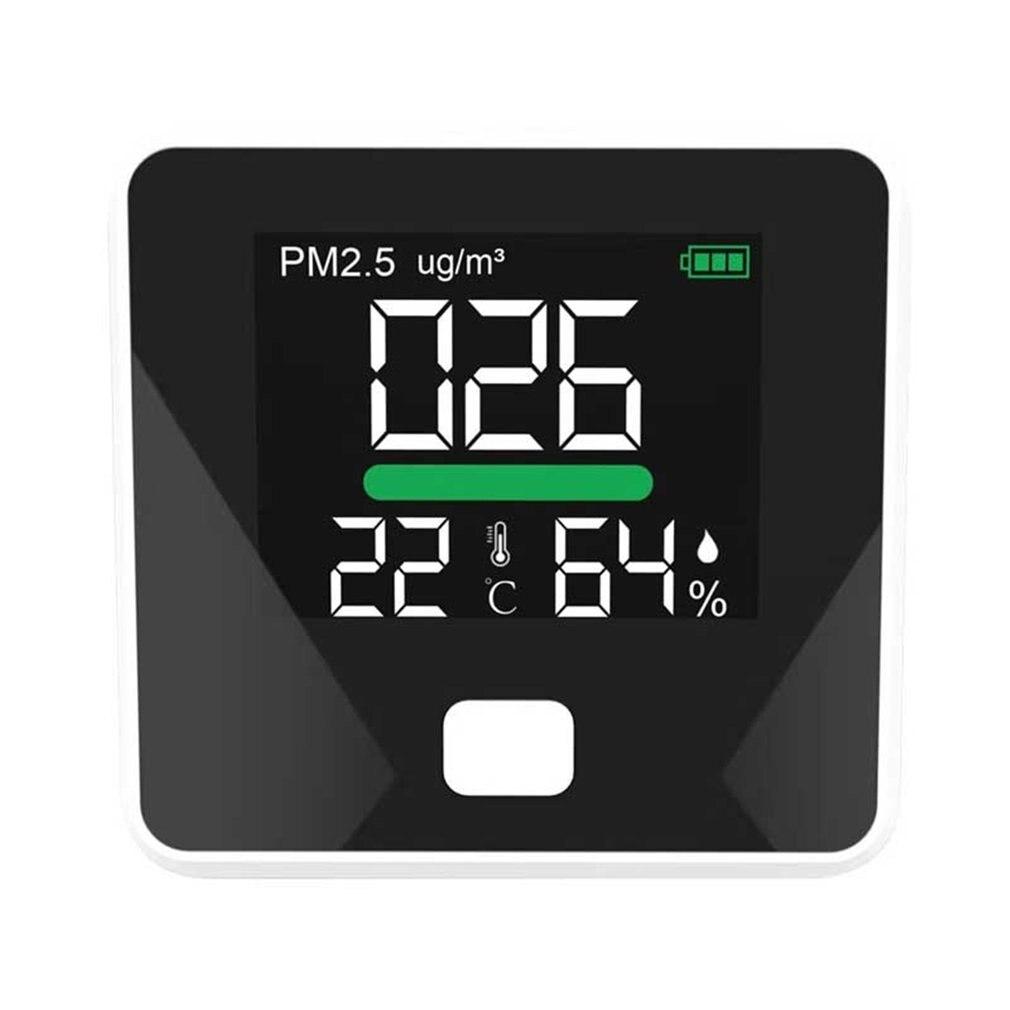 PM2.5 Detector Temperatuur Vochtigheid Meter Gas Monitor Lcd scherm Dust Air Kwaliteit Detector DM103B Thermometer op title=