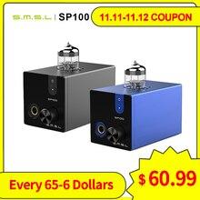 SMSL SP100 أنبوب مضخم ضوت سماعات الأذن 6N3 أنبوب قوي مرحبا نهاية ستيريو أمبير الصوت HiFi الناتج التحكم في مستوى الصوت