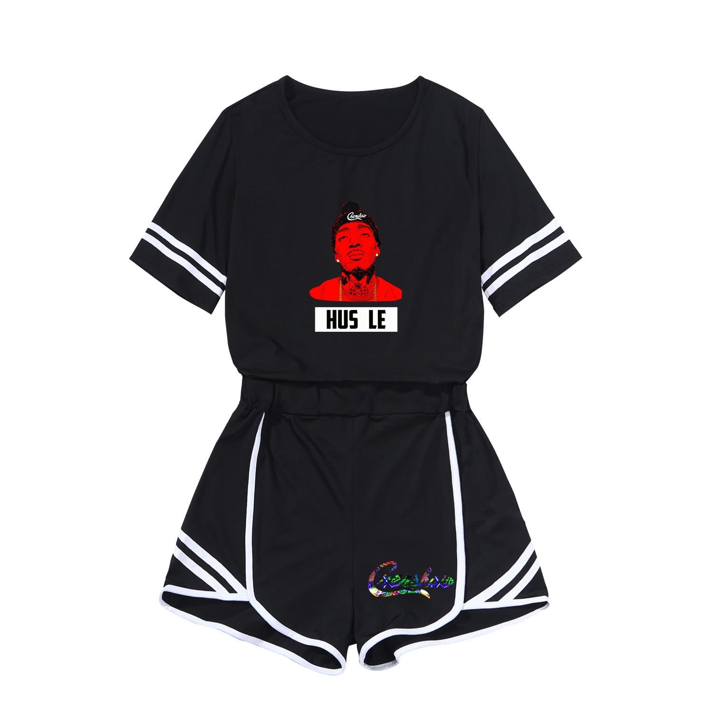 Nipsey Hussle2019 Spring WOMEN'S Dress Printed Fashion Leisure Suit