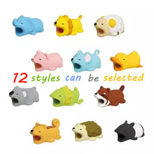 Cartoon Animal USB Cable Protector Cable Organizer Data Line Management Charging Protection Cable Winder For iPhone iPad iPod