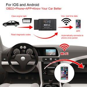 Image 2 - Herramienta de diagnóstico OBD2 para coche, escáner automotriz para comprobar la luz del motor, para iOS y Android, Detector OBDII, ELM327, WIFI