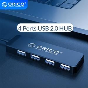 ORICO USB 2.0 HUB 4 Ports Mini haute vitesse Multi USB séparateur expanseur Portable OTG adaptateur pour ordinateur Portable Huawei Mate 10 Pro