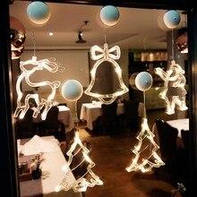 Luzes de natal decoração da janela led otário lâmpada alimentado por bateria guirlanda para casa luzes de fadas ao ar livre/indoor festival luz da corda