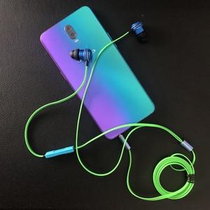 Image 3 - Kablolu kulakiçi özel ayarlı çift sürücü In Line Mic ses kontrolü alüminyum çerçeve dolaşmayan düz kablo Stereo çinde kulaklıklar