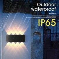 IP65 Led Wand Lampen Für Garten Beleuchtung Warm Weiß Neutral Kaltes Weiß Led-Wand Licht Aluminium Wasserdichte Außen Beleuchtung