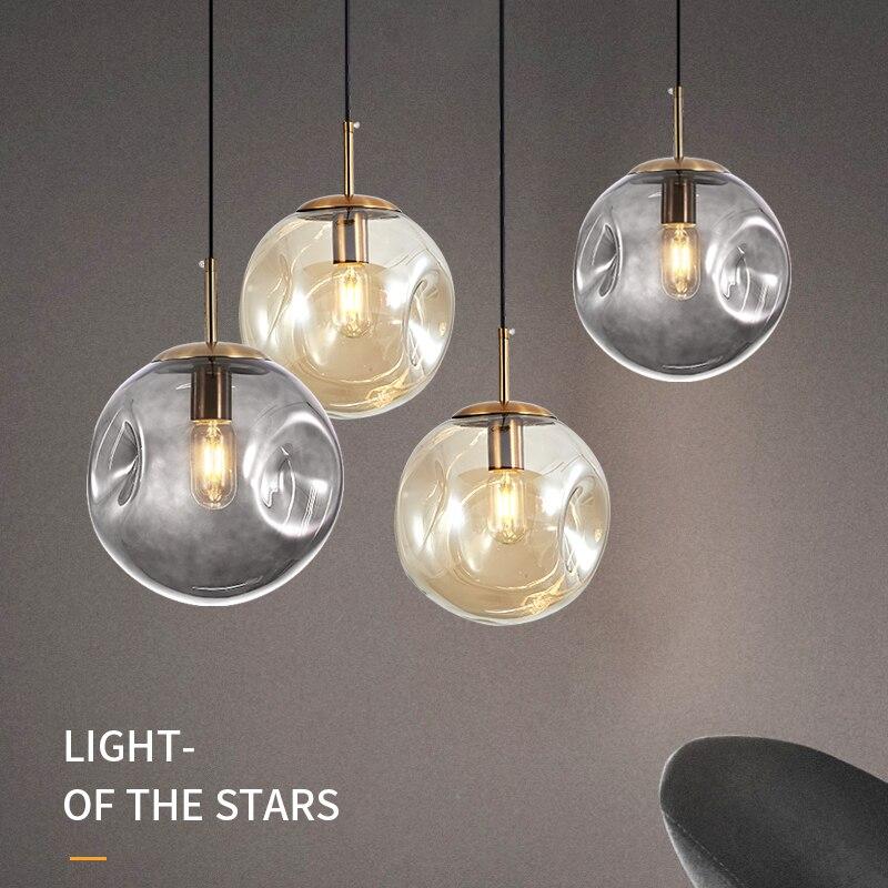 modern pendant lights glass ball  living room  LED  pendant lights pendant lights|Pendant Lights| |  - title=