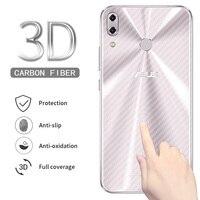 3D In Fibra di Carbonio Posteriore Della Protezione Dello Schermo per Asus Zenfone 5 ZE620KL 5Z ZS620KL Max Pro (M1) ZB601KL Posteriore Film Non di Vetro