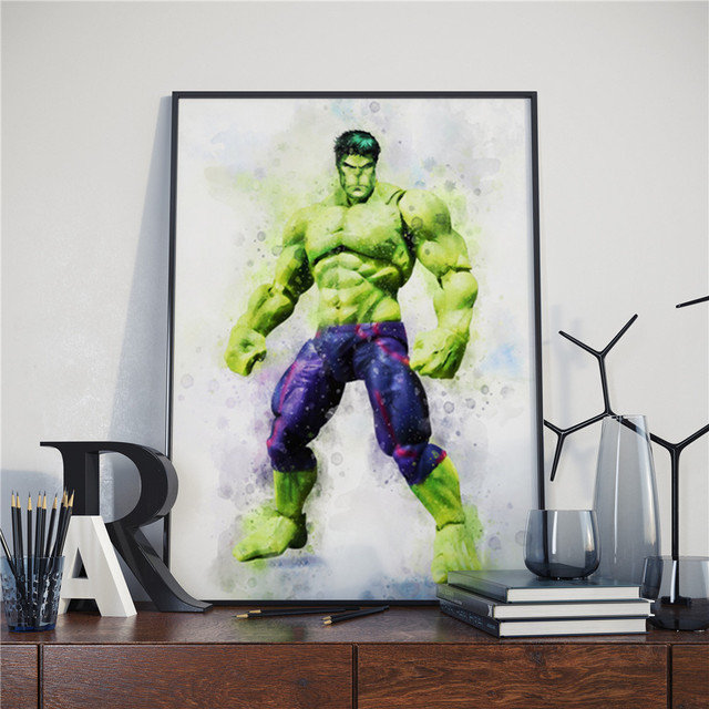 Superheroes Watercolor Poster (16 Different Designs) 16
